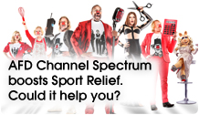 Channel Spectrum boost Sports Relief