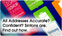 All addresses accurate? Confident? Sintons are.
